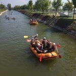 Bratislava rafting channel's quiet part