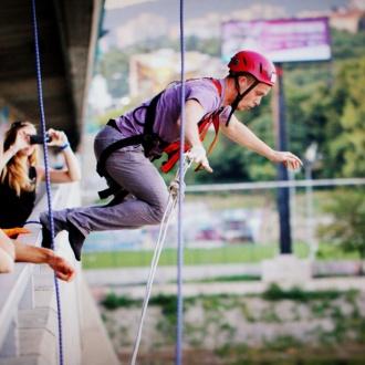 Bratislava Bridge Swing Jump