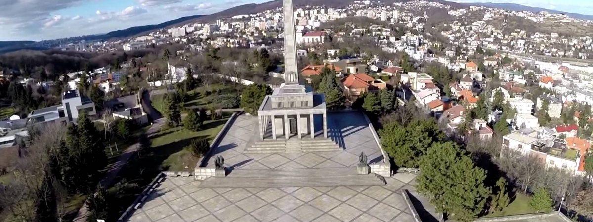 The monument above Bratislava: Slavin