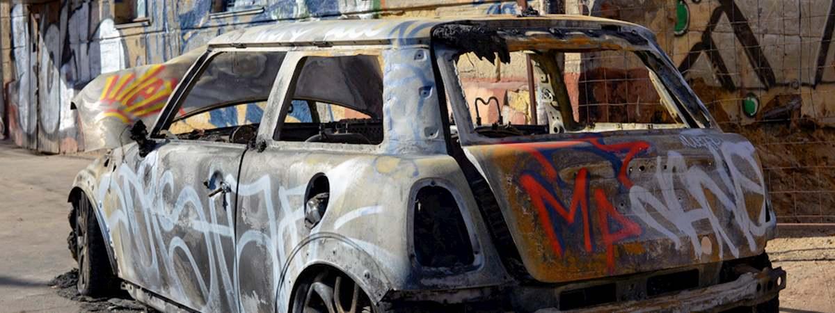 Bratislava Car Vandalising